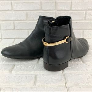 Tory Burch jess black leather ankle bootie boots